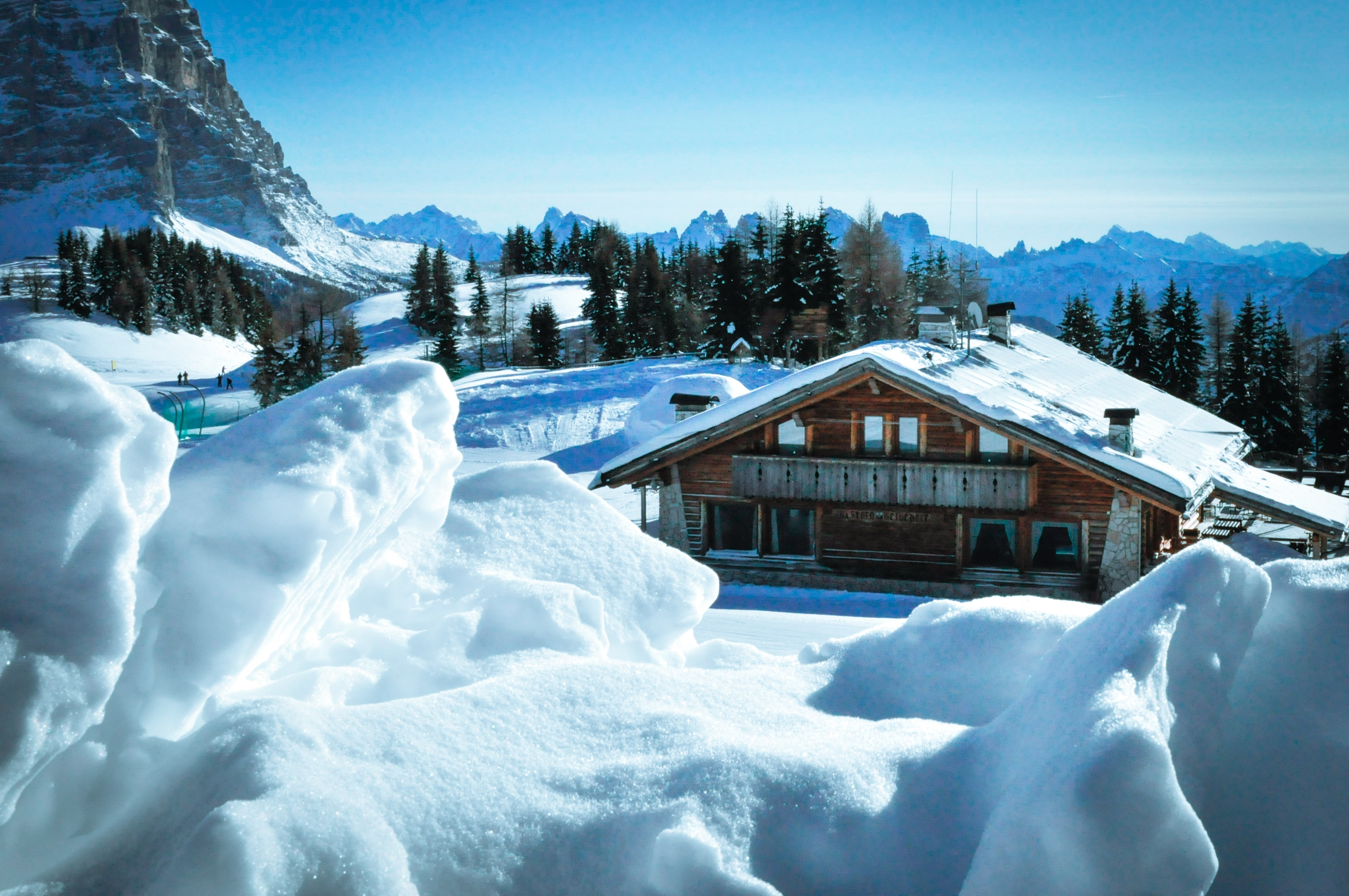 What is a catered chalet?